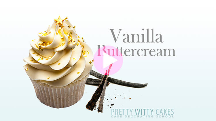 Vanilla Buttercream tutorial at Pretty Witty Academy
