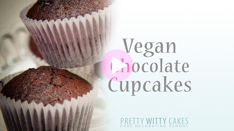 Vegan Chocolate Cupcakes recipe at Pretty Witty Academy