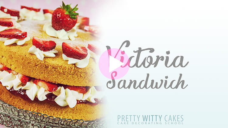 Victoria Sandwich Cake Tutorial at Pretty Witty Cakes