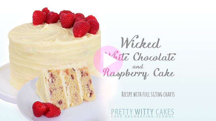Wicked White Choc And Raspberry Cake at Pretty Witty Cakes