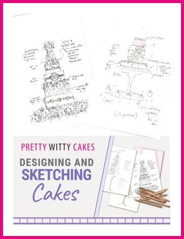 Free Template for designing and sketching cakes from Pretty Witty Cakes