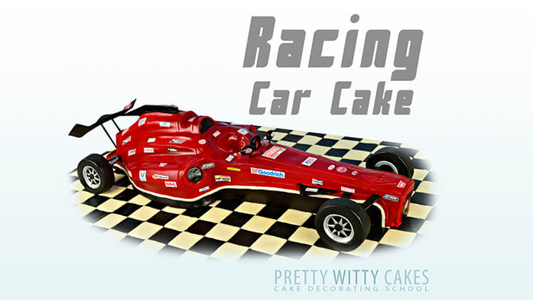 Free Racing Car Cake Tutorial at Pretty Witty Academy