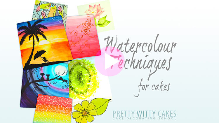 Watercolour Techniques Tutorial Preview at Pretty Witty Academy