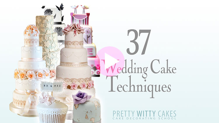 37 Wedding Cake Techniques prevew tutorial at Pretty Witty Academy