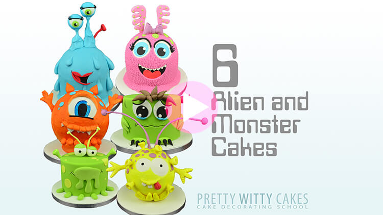 Monsters & Aliens Cakes Tutorial Preview at Pretty Witty Academy
