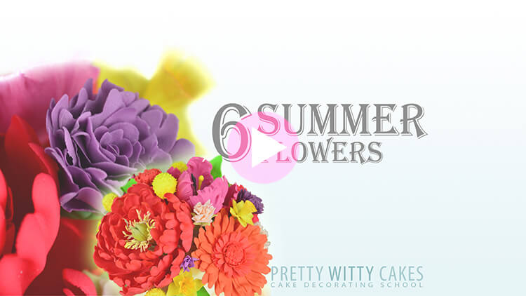 6 Summer Flowers Tutorial Preview at Pretty Witty Academy