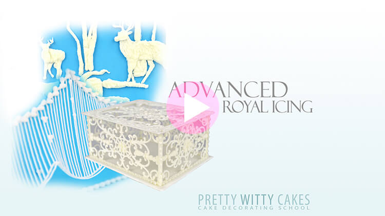 Advanced Royal Icing Tutorial Preview at Pretty Witty Academy