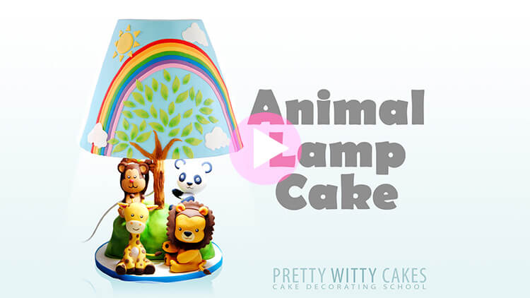 Animal Lamp Cake Tutorial Preview at Pretty Witty Academy