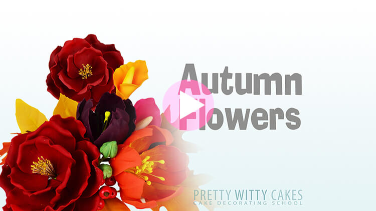 Autumn Flowers Tutorial Preview at Pretty Witty Academy