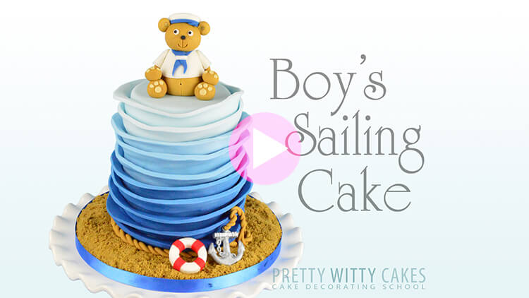 Boy's Sailing Cake Tutorial Preview at Pretty Witty Academy