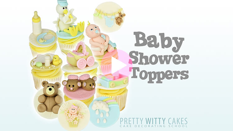 Baby Shower Toppers Tutorial Preview at Pretty Witty Academy