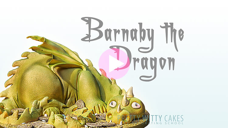 Barnaby the Dragon Cake at Pretty Witty Academy