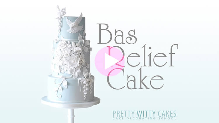 Bas Relief Cakes tutorial preview at Pretty Witty Academy