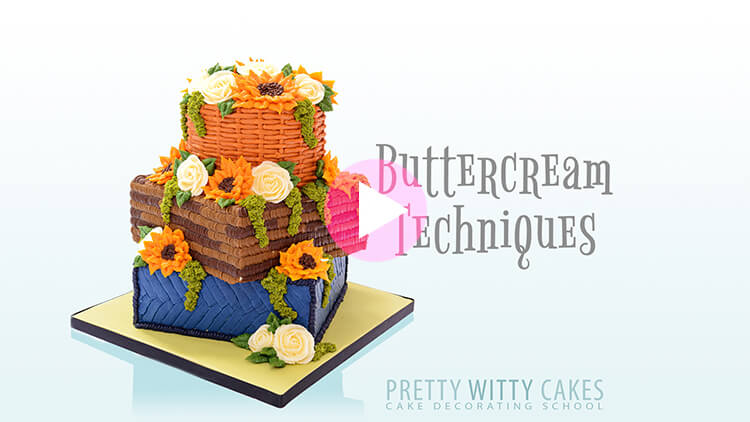 Buttercream Techniques Tutorial Preview at Pretty Witty Academy