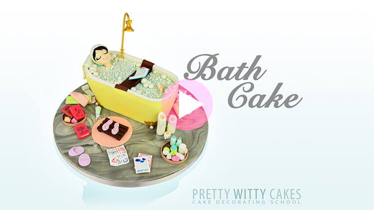 Bath Cake Tutorial Preview at Pretty Witty Academy