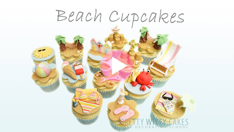 Beach Cupcakes Tutorial Preview at Pretty Witty Academy
