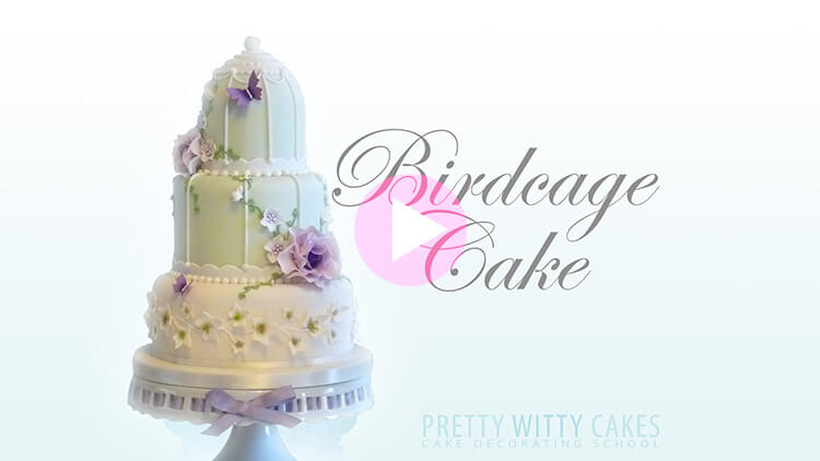Bird Cage Cake preview at Pretty Witty Academy