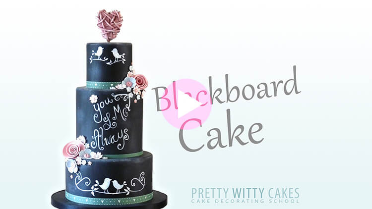 Blackboard Cake Tutorial Preview at Pretty Witty Academy