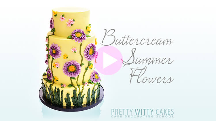 Buttercream Summer Flowers Tutorial Preview at Pretty Witty Academy