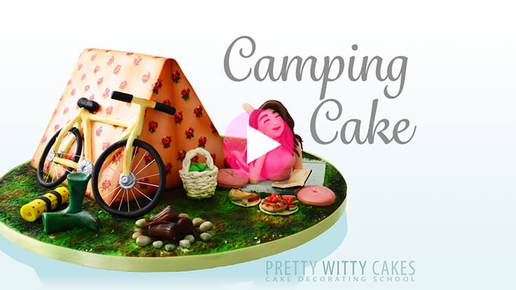 Camping Cake prevew tutorial at Pretty Witty Academy