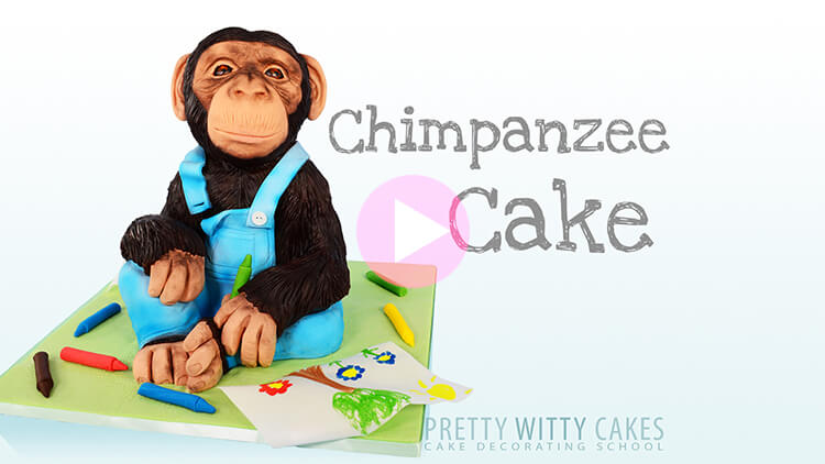 Chimpanzee Cake preview tutorial at Pretty Witty Academy