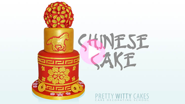 Chinese Cake Tutorial Preview at Pretty Witty Academy