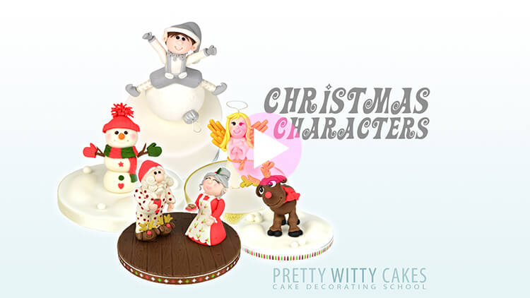Christmas Characters Tutorial Preview at Pretty Witty Academy