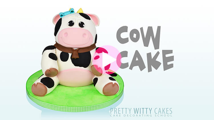 Cow Cake Tutorial Preview at Pretty Witty Academy