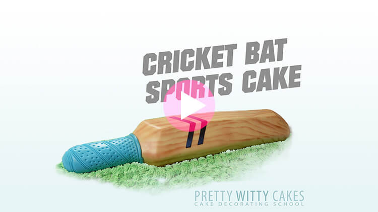 Cricket Bat Cake Tutorial Preview at Pretty Witty Academy