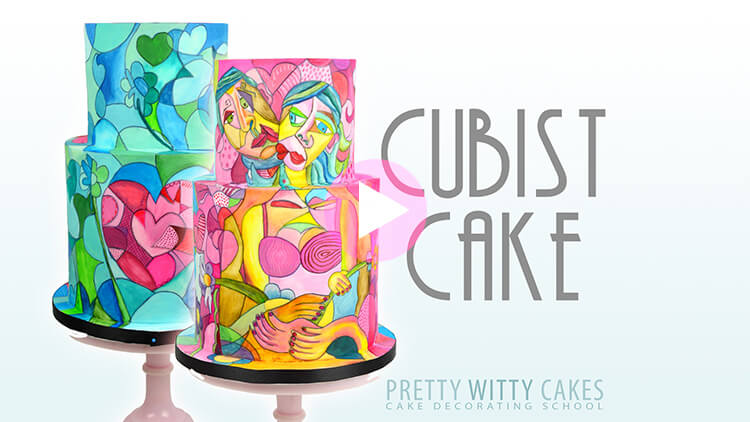 Cubist Cake preview at Pretty Witty Academy