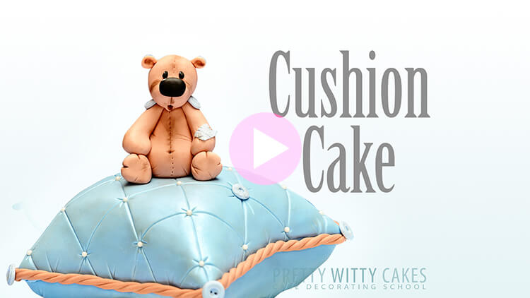 Cushion Cake Tutorial Preview at Pretty Witty Academy
