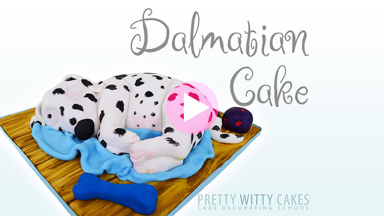 Dalmation Cake Tutorial Preview at Pretty Witty Academy