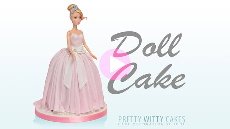 Doll Cake Tutorial Preview at Pretty Witty Academy
