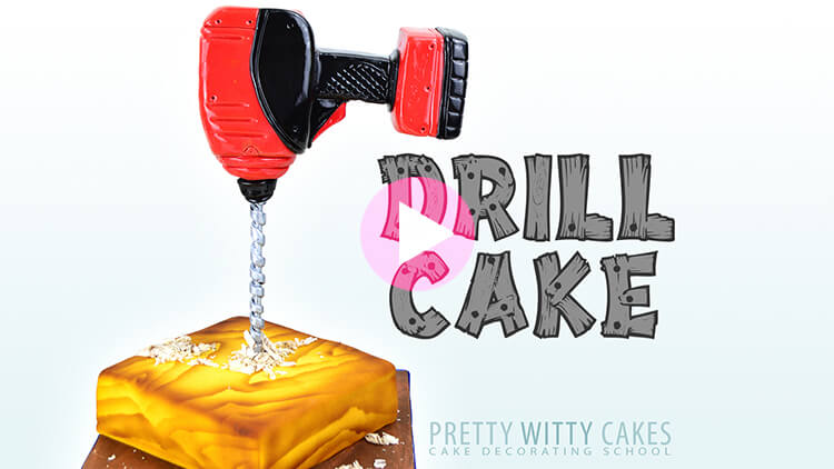 Drill Cake Tutorial Preview at Pretty Witty Academy