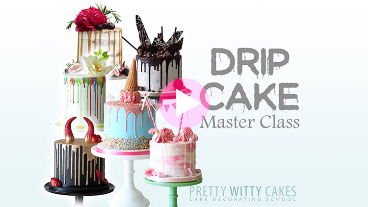 Drip Cake Tutorial Preview at Pretty Witty Academy