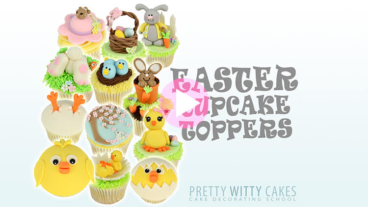 Easter Cupcake Toppers Tutorial Preview at Pretty Witty Academy