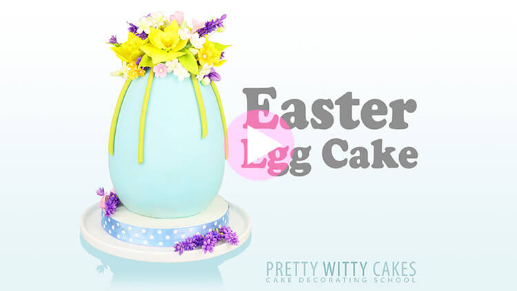 Easter Egg Cake Tutorial Preview at Pretty Witty Academy