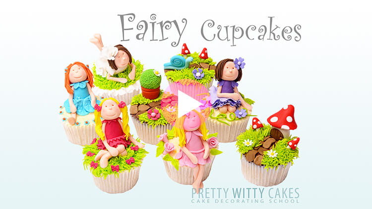Fairy Cupcakes Tutorial Preview at Pretty Witty Academy