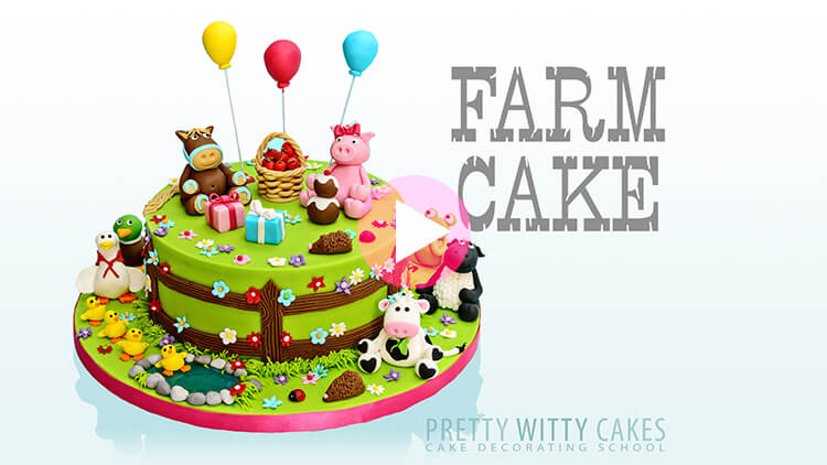 Farm Cake Tutorial Preview at Pretty Witty Academy
