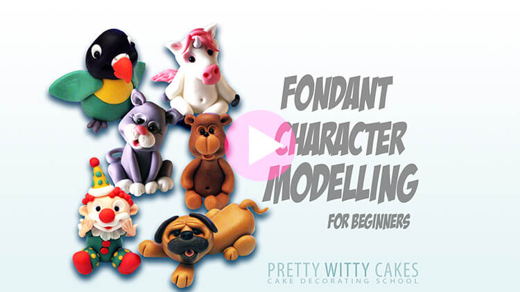 Fondant Character Modelling Tutorial Preview at Pretty Witty Academy