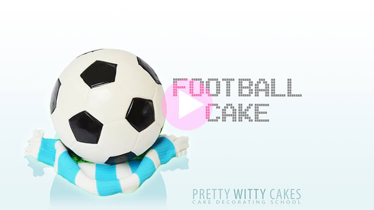 Football Cake Tutorial Preview at Pretty Witty Academy