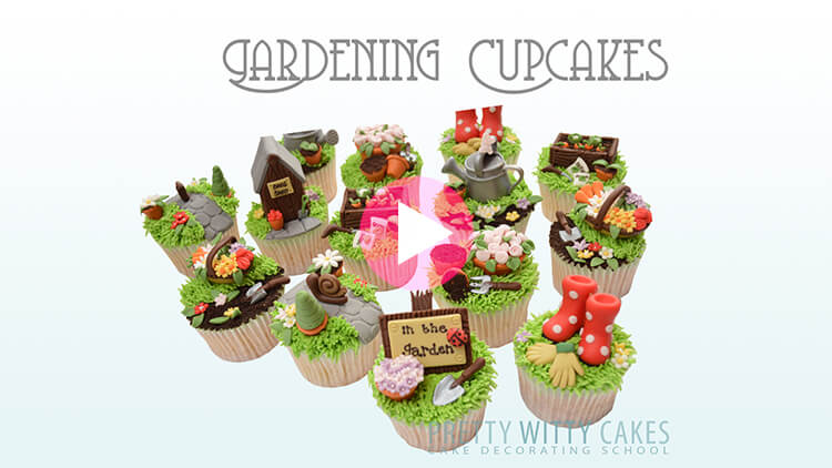 Gardening Cupccakes Tutorial Preview at Pretty Witty Academy