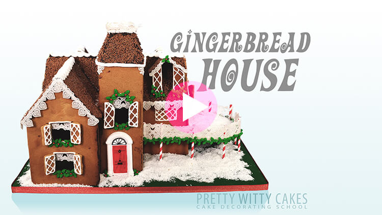 Gingerbread House Tutorial Preview at Pretty Witty Academy