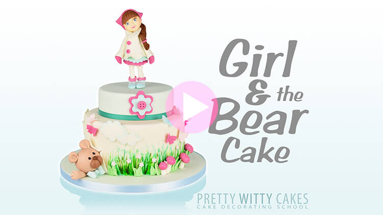 Girl & the Bear Cake Tutorial Preview at Pretty Witty Academy