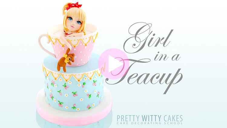 Girl in a Teacup Tutorial Preview at Pretty Witty Academy