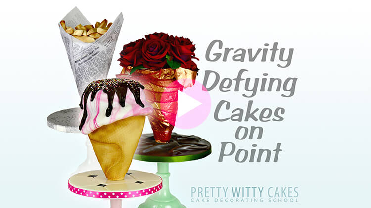 Gravity defying cakes on points