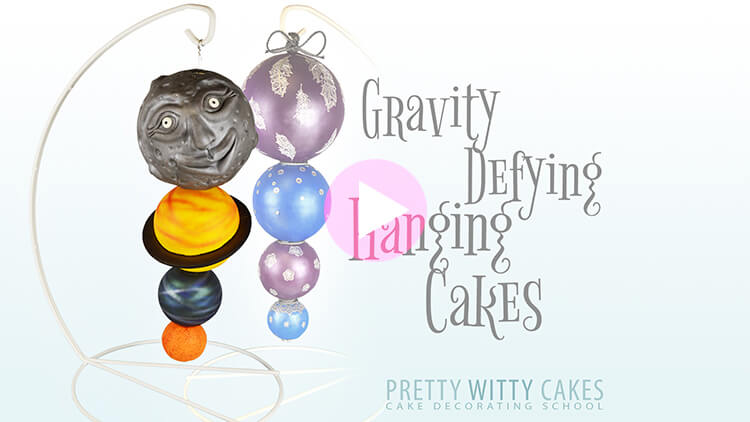 Hanging Cakes Tutorial Preview at Pretty Witty Academy