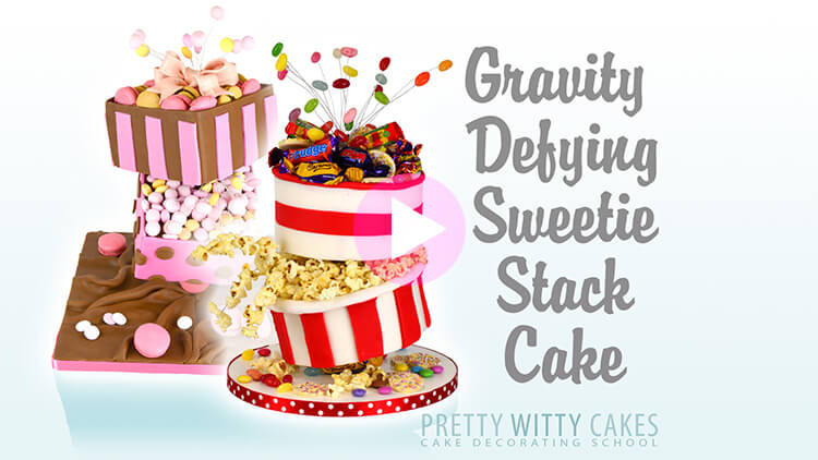 Gravity defying sweetie stack cake