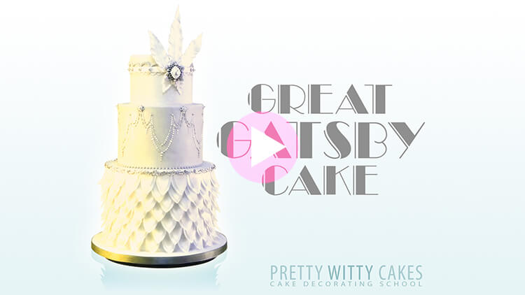 Great Gatsby Cake Tutorial Preview at Pretty Witty Academy
