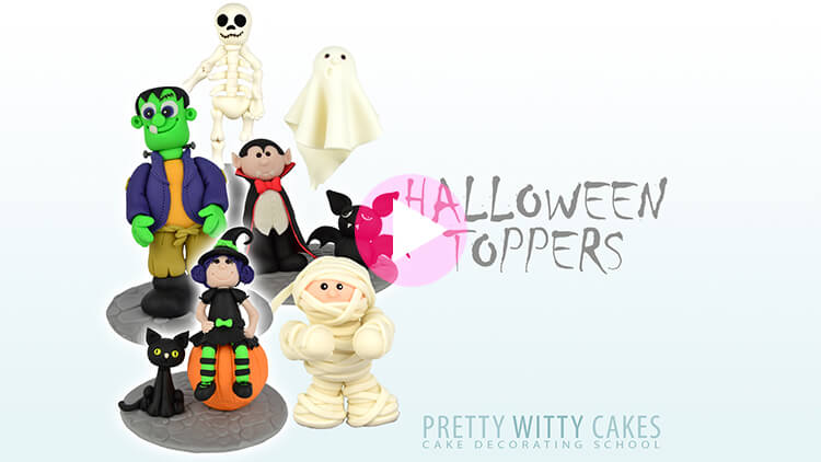 Halloween Toppers Tutorial Preview at Pretty Witty Academy
